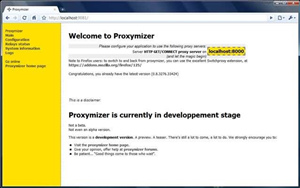 Proxymizer screen 3